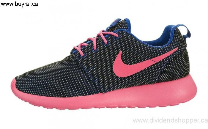 Canada Inspired Shoes 2014 Nike Womens Roshe One Hyper Cobalt 511882-467 / Pink-Volt-Black Hyper ABHIY02568