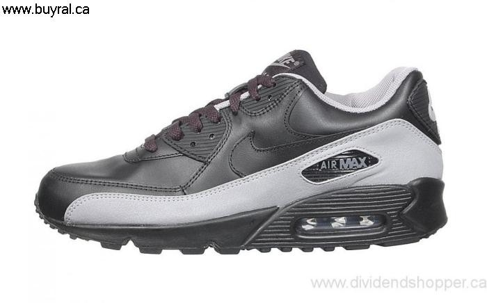Canada Shoes 2006 Nike Air Max 90 Black 302519-008 Impress / - Grey Black FGHILX1467