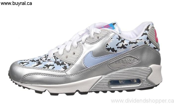 Canada Shoes 2006 Nike Air Max 90 CL Agreeable (Kids) 312153-041 Blue-Punch-Frost Blue Silver/Ice Metallic ABCKOWZ039