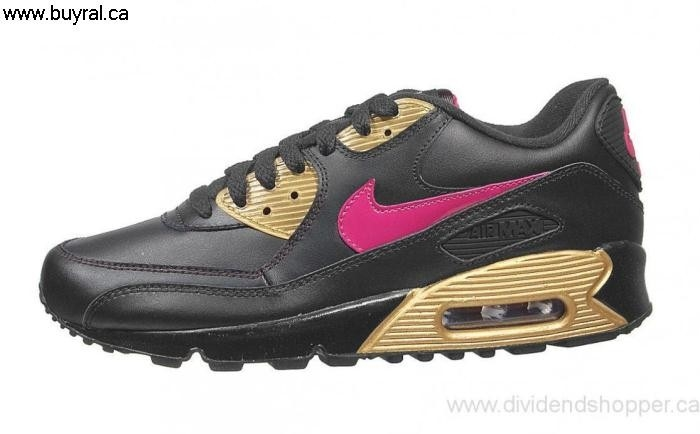 Canada Shoes 2006 Nike Air Max 90 CL Fabulous Black/Rave 312153-062 Pink-Metallic Gold BDGHQT1345