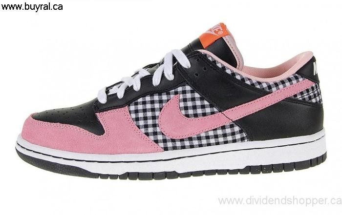 Canada Shoes 2007 Nike Presented Women\s Dunk Pink-Black 308608-161 Low White/Perfect BCHIKMNOP0