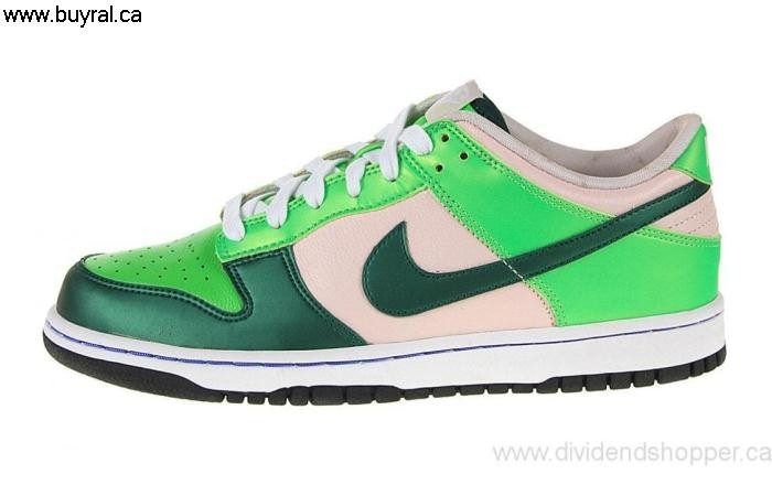 Canada Shoes 2007 Nike Womens Dunk Low Shrewd Green Forest-Radiant Pink/Black 308608-631 Alum BGHJPTXY04