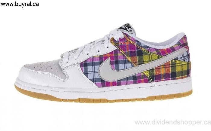 Canada Shoes 2007 Nike Womens Dunk Low White / Neutral Grey Procure - Light Brown Plaid - Multicolor 308608-102 ADGIRTZ069
