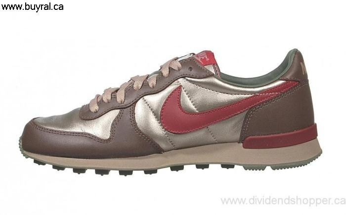 Canada Shoes 2007 Nike Womens Internationalist Brown Zinc/Team 314626-061 Amaze Red-Baroque Metallic GLQWX01459