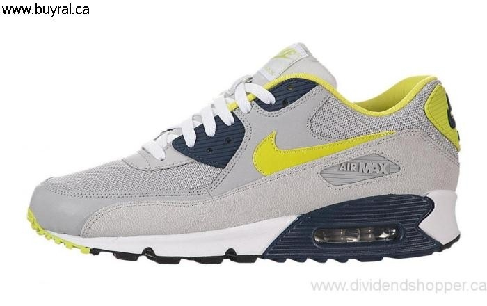 Canada Shoes 2013 Nike Air Disinterested Max 90 Essential Strata 537384-031 Grey / Cyber-Sqdrn Blue-White BKLOPTWZ39