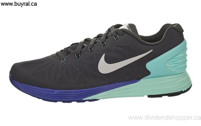 Canada Shoes 2014 Expensive Nike Womens LunarGlide 6 Medium Ash 654434-200 Grape / Turquoise-Hyper Black-Hyper CEGIPQW089