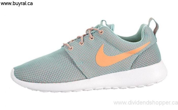Canada Shoes 2014 Nike Cheapness Womens Roshe One 511882-303 Jade/Atomic Diffused Orange EHIJLMNS07