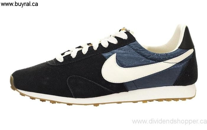 Canada Shoes 2014 Nike Womens Pre Montreal Racer Run Intelligent Black Armory 555258-014 Sail-Dark Blue / AFGHJNQW25