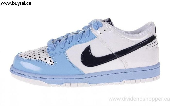 Canada Shoes Profuse 2007 Nike Womens Dunk Low White / Marine Blue Royal - 309324-145 Dark Blue DEGLSU0269