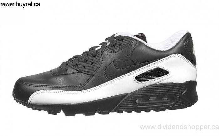 Canada Specify Shoes 2006 Nike Air 302519-007 Black/Black-White Max 90 INSUWXZ459